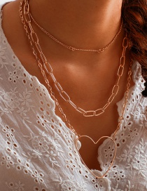 Fashion Gold Alloy Word-shaped Love Multi-layer Necklace