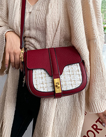 Fashion Red Lock Stitching Shoulder Bag
