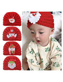 Fashion 5-color Mixed Shot Multiple Knitted Wool Baotou Cap