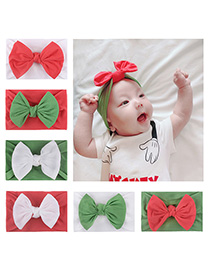 Fashion 6 Colors Mixed Shot Times Nylon Stockings Bow Children's Hair Band