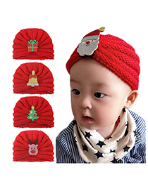 Fashion 5-color Mixed Shot Multiple Cartoon Knitted Wool Children's Hat