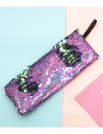 Fashion Laser Multicolor Mermaid Two-color Sequin Pencil Case
