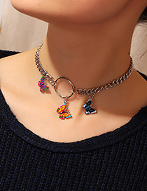 Fashion Silver Butterfly Necklace