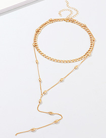 Fashion Gold Alloy Bead Necklace