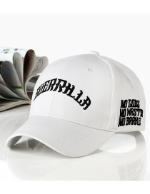 Fashion Letter-white Embroidered Letter Cartoon Baseball Cap