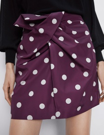 Fashion Jujube Red Polka Dot Printed Miniskirt
