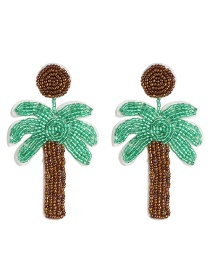 Fashion Coconut Tree Glass Beads Coconut Tree Earrings