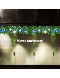 Fashion Green Christmas Tree Leaf Wall Sticker