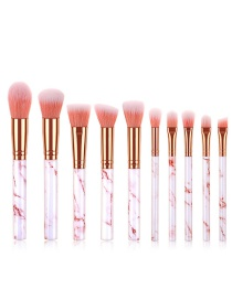 Fashion Pink 10 Sticks With Marble Handle Brush