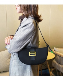 Fashion Black Locked Crossbody Shoulder Bag