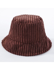 Fashion Coffee Color Corduroy Basin Cap