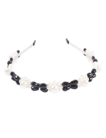 Fashion Black Alloy Pearl Headband