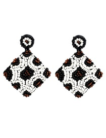 Fashion White Rice Beads Diamond Earrings