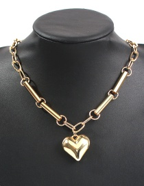 Fashion Gold Alloy Chain Love Necklace