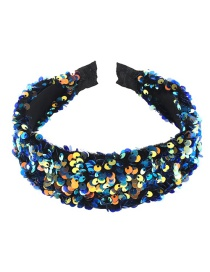 Fashion Blue Velvet Sequin Headband