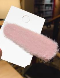 Fashion Pink Water Droplets Narrow Plush Hair Clip