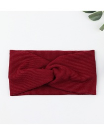 Fashion Red Wide Knit Cross Hair Band