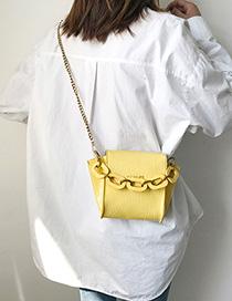 Fashion Yellow Chain Wings Shoulder Crossbody Bag