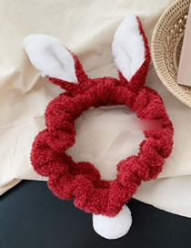 Fashion Tail Section - Wine Red Rabbit Headband With Tail