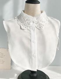 Fashion Chiffon Lace Collar A White Lace Fake Collar