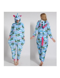 Fashion Qinglong Tianma Animal Cartoon Flannel One-piece Pajamas Adult Models