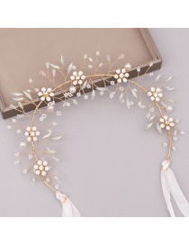 Fashion Gold Crystal Pearl Hair Band
