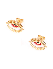 Fashion Red Small Eyelash Drop Earrings