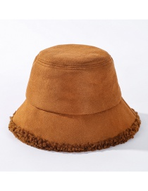Fashion Caramel Colour Fur One Lamb Fur Fisherman Hat