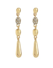 Fashion Gold Full Diamond S925 Silver Needle Earrings