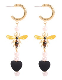Fashion Black Alloy C-type Bee Love This Earring