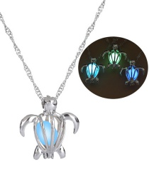 Fashion Silver Turtle Hollowed Out Bead Necklace