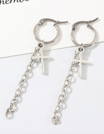 Fashion Silver Cross Earrings
