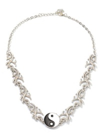 Fashion Silver Tai Chi Pattern Necklace