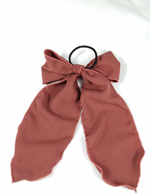 Fashion Brick Red Bow Rope (model) Bow Floating Bandwidth Side Fabric Hair Ring