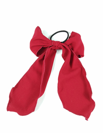 Fashion Wine Red Bow Hairline (the Object Is Slightly Darker Than The Picture) Bow Floating Bandwidth Side Fabric Hair Ring