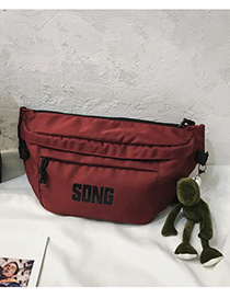 Fashion Red Letter Embroidery Crossbody Chest Bag