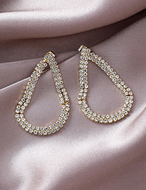 Fashion Gold 925 Silver Needle Diamond Earrings
