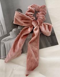 Fashion Pink Velvet Bow Hairline