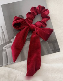 Fashion Wine Red Velvet Bow Hairline