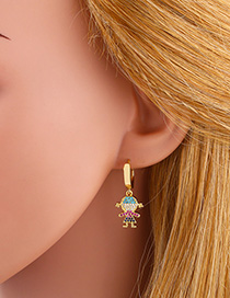 Fashion Child Boy Child Diamond Earrings