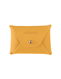 Fashion Yellow Leather Letter Coin Purse