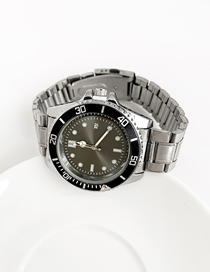 Fashion Gray Alloy Electronic Element Chain Watch