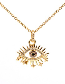 Fashion Gold Eye Zircon Necklace