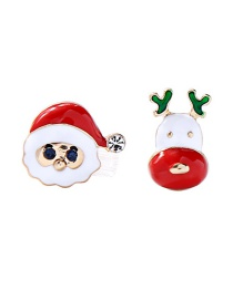 Fashion Christmas Color Santa Claus Earrings