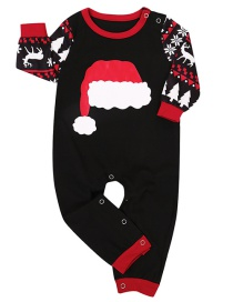Fashion Crawling Suit Christmas Hat Printing Home Service Suit