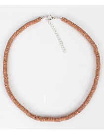 Brown Geometric Soft Ceramic Necklace