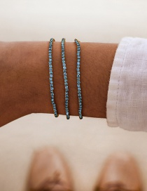 Blue Diamond Single Layer Bracelet