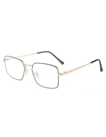 Fashion Black Gold Frame Square Frame Flat Mirror