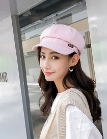 Fashion Pink Labeled Beret