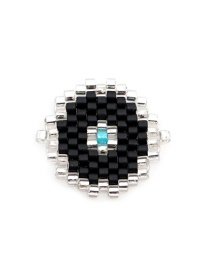 Fashion Black Round Geometric Rice Beads Weaving Accessories